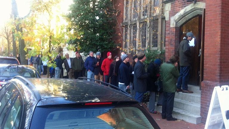 Vallokal i stadsdelen Georgetown i Washington DC. Foto: Per Enander/SR