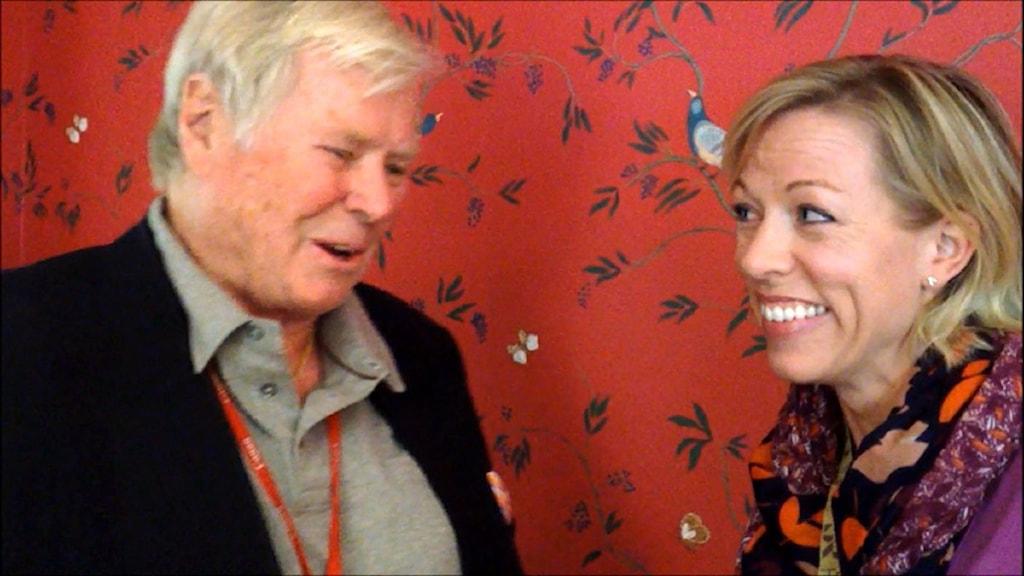 Staffan Heimerson och Ginna Lindberg. Foto: Nils Lindström/Sveriges Radio.