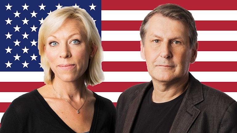 Ginna Lindberg och Sten Söström. Foto: Mattias Ahlm/Sveriges Radio