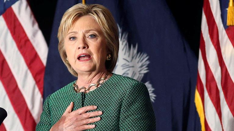 Hillary Clinton. Foto: Gerald Herbert/TT.