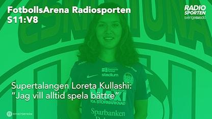 Loreta Kullashi gäst i FotbollsArena Radiosporten.