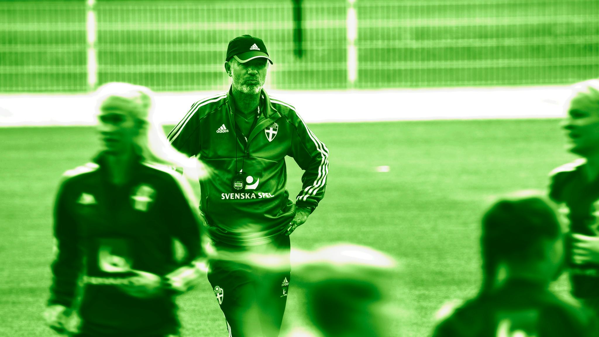 Peter Gerhardsson under träning.