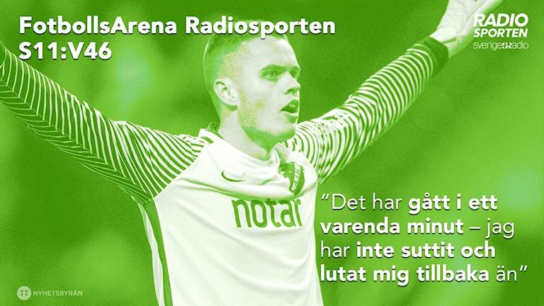 Oscar Linnér gästar FotbollsArena Radiosporten dagen efter SM-guldet.