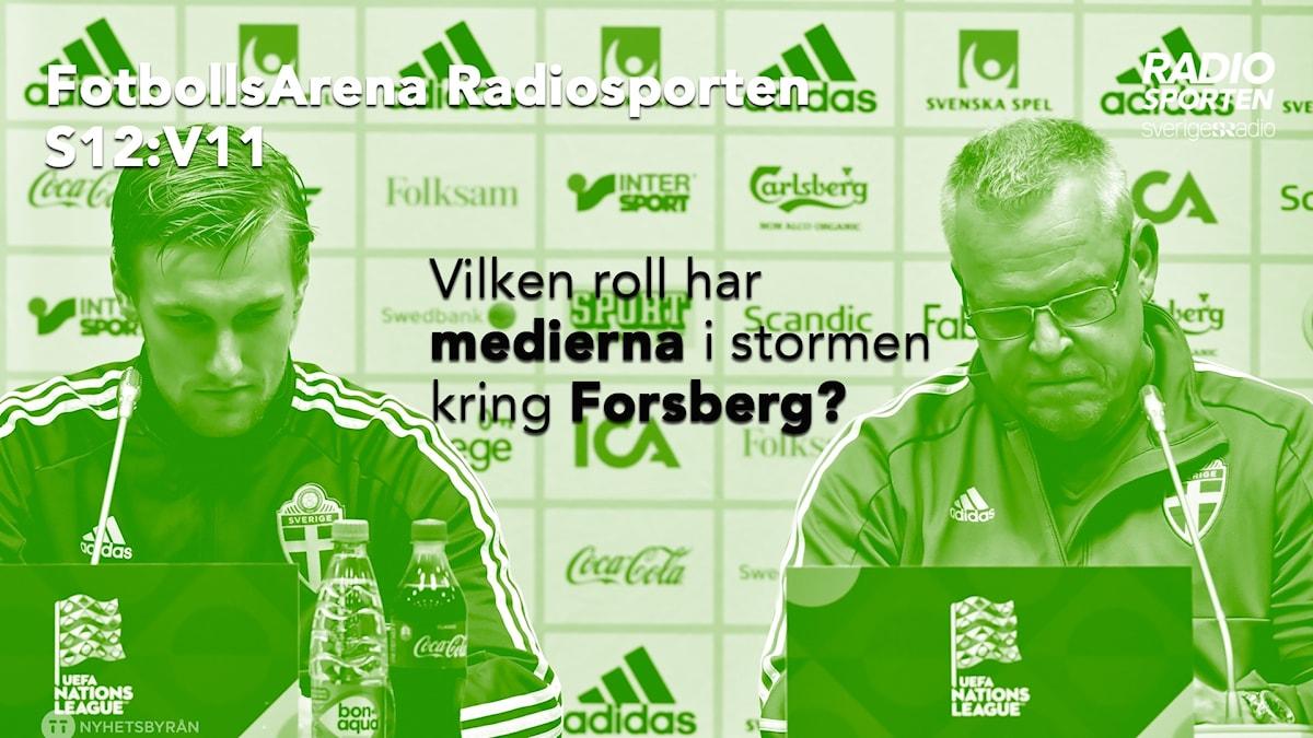 Emil Forsberg och Janne Andersson.