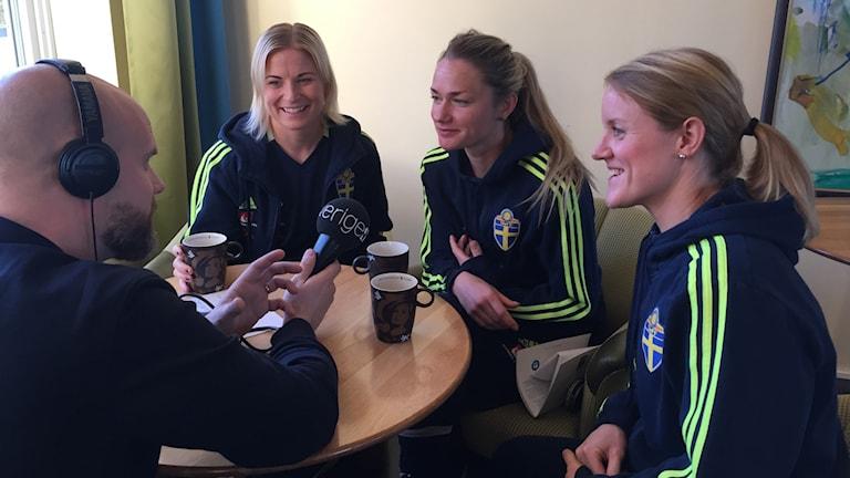 Annica Svensson, Stina Segerström och Marie Hammarström.