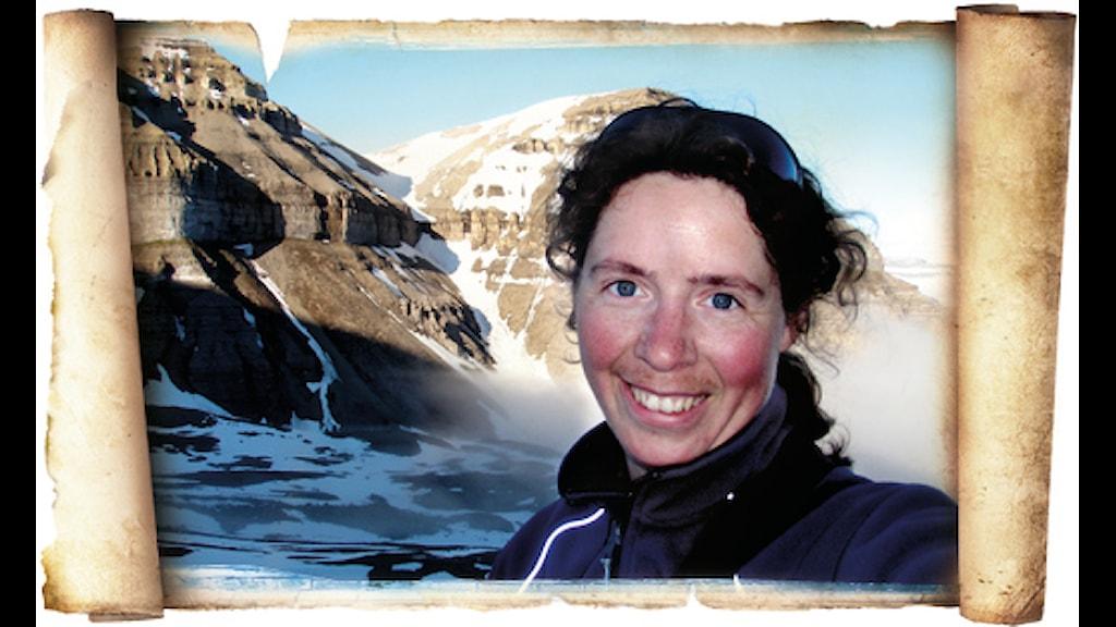 Julkalenderns ishavsexpert Emma Johansson-Karlsson, foto privat