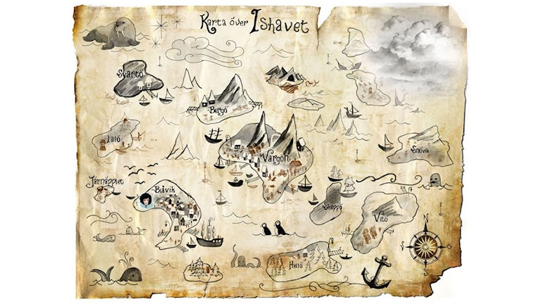 Kartan över Ishavet