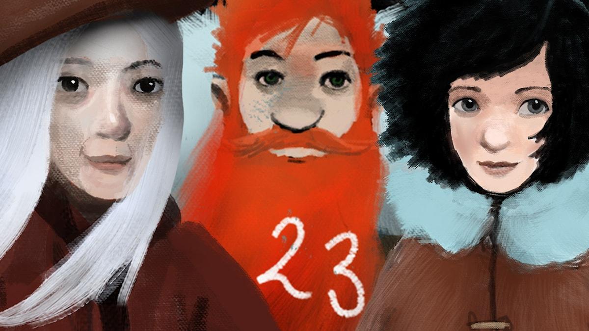 DEL 23: Siri och ishavspiraterna, Julkalendern 2012 illustration: Alexander Janson