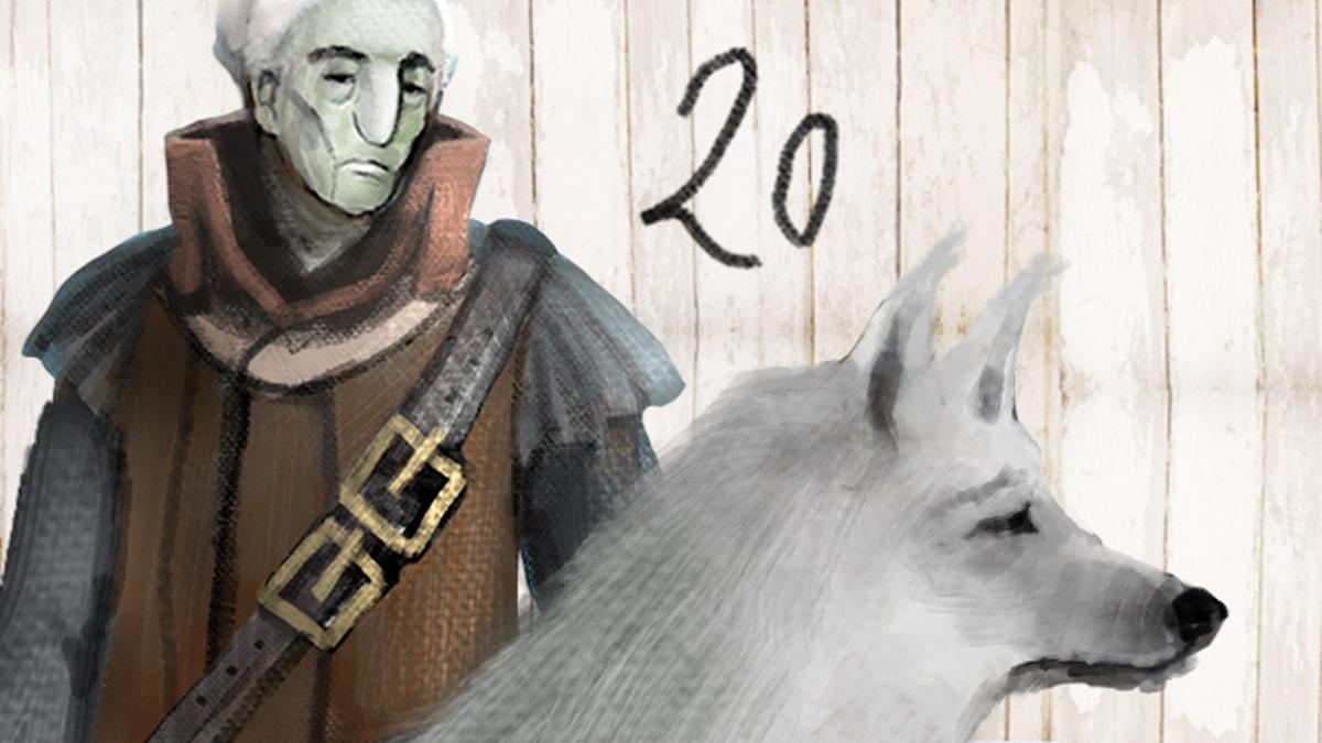 DEL 20: Siri och ishavspiraterna, Julkalendern 2012 illustration: Alexander Janson