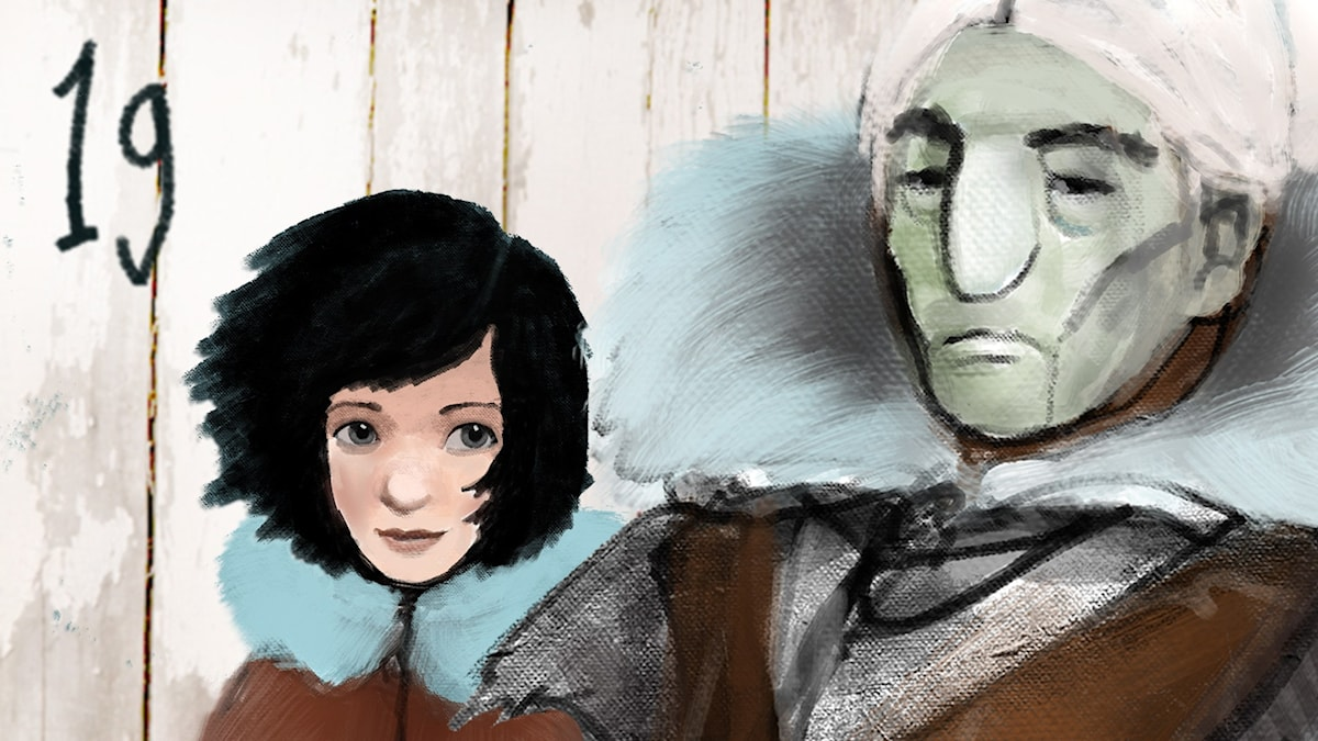 DEL 19: Siri och ishavspiraterna, Julkalendern 2012 illustration: Alexander Janson