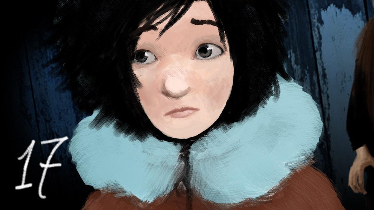 DEL 17: Siri och ishavspiraterna, Julkalendern 2012 illustration: Alexander Janson