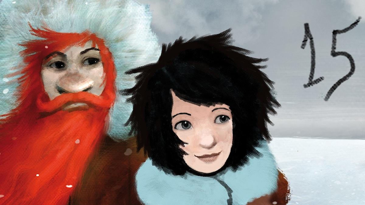 DEL 15: Siri och ishavspiraterna, Julkalendern 2012 illustration: Alexander Janson