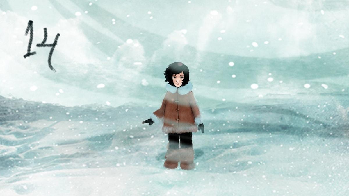 DEL 14: Siri och ishavspiraterna, Julkalendern 2012 illustration: Alexander Janson