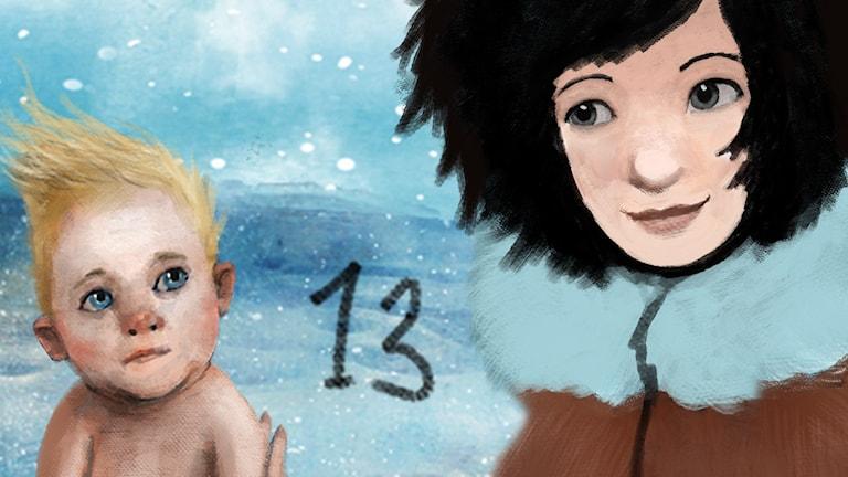 DEL 13: Siri och ishavspiraterna, Julkalendern 2012 illustration: Alexander Janson