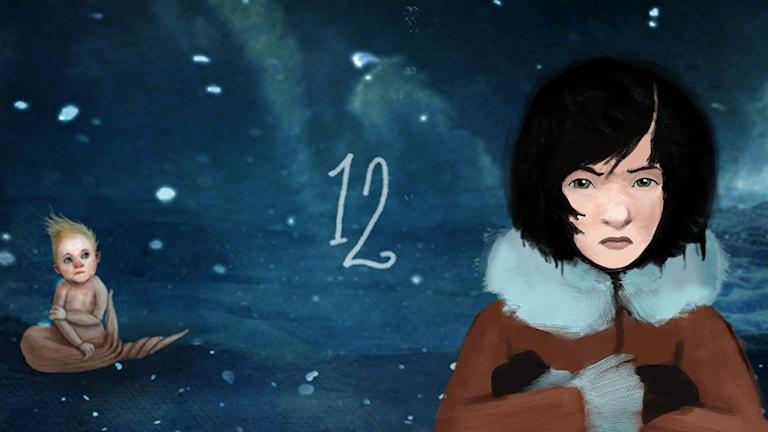 DEL 12: Siri och ishavspiraterna, Julkalendern 2012 illustration: Alexander Janson