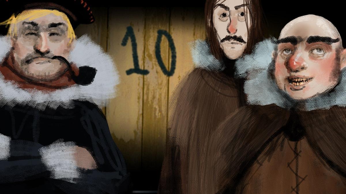 DEL 10: Siri och ishavspiraterna, Julkalendern 2012 illustration: Alexander Janson