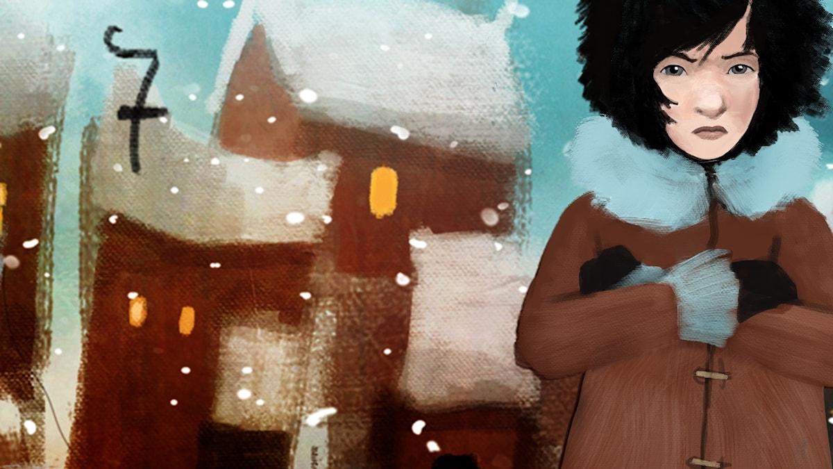 7DEL 7: Siri och ishavspiraterna, Julkalendern 2012 illustration: Alexander Janson