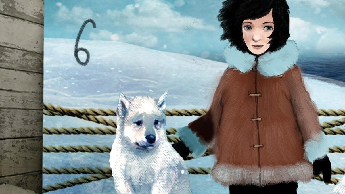 DEL 6: Siri och ishavspiraterna, Julkalendern 2012 illustration: Alexander Janson