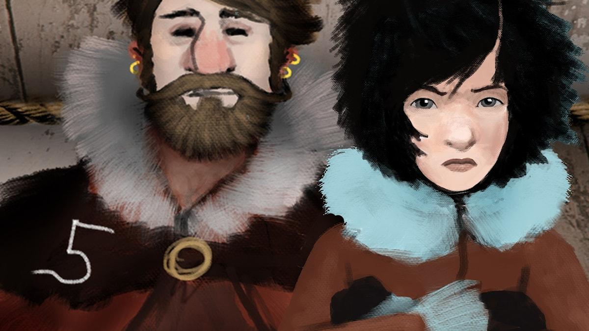 DEL 5: Siri och ishavspiraterna, Julkalendern 2012 illustration: Alexander Janson