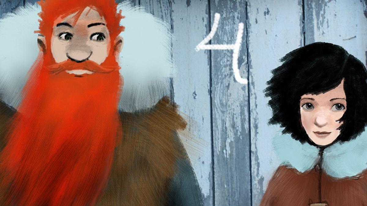 DEL4: Siri och ishavspiraterna, Julkalendern 2012 illustration: Alexander Janson