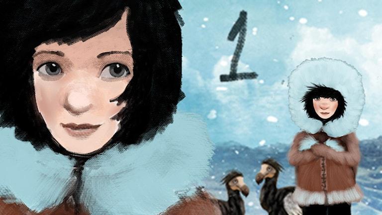 del 1: Siri och ishavspiraterna, Julkalendern 2012 illustration: Alexander Janson