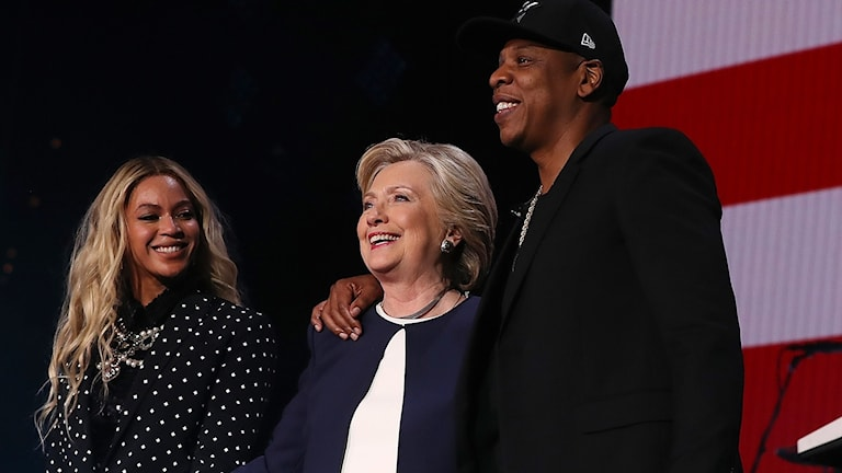 Beyonce Jay-Z och Hillary Clinton
