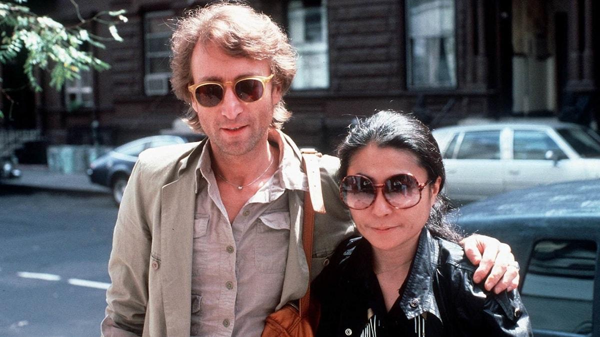 John Lennon och Yoko Ono.