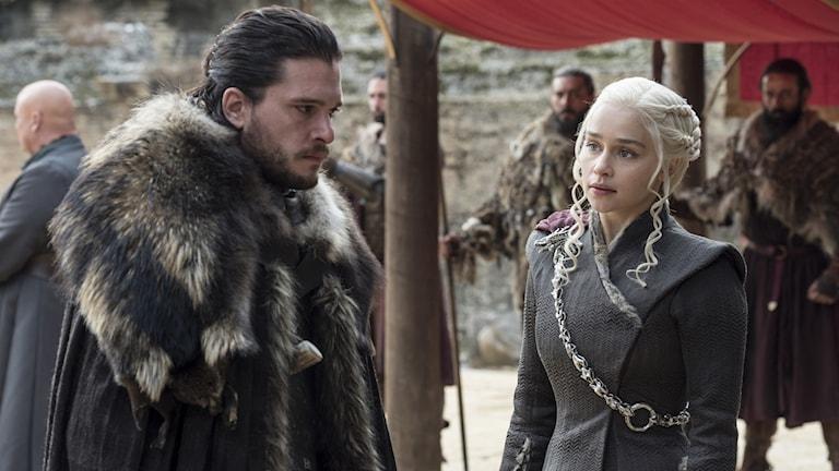 Jon Snow och Daenerys Targaryen.