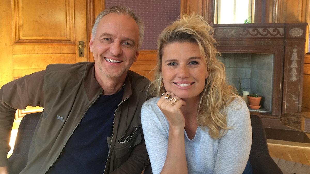 Filmaktuella Björn Kjellman och Christine Melzer. Foto: Björn Jansson/Sveriges Radio.