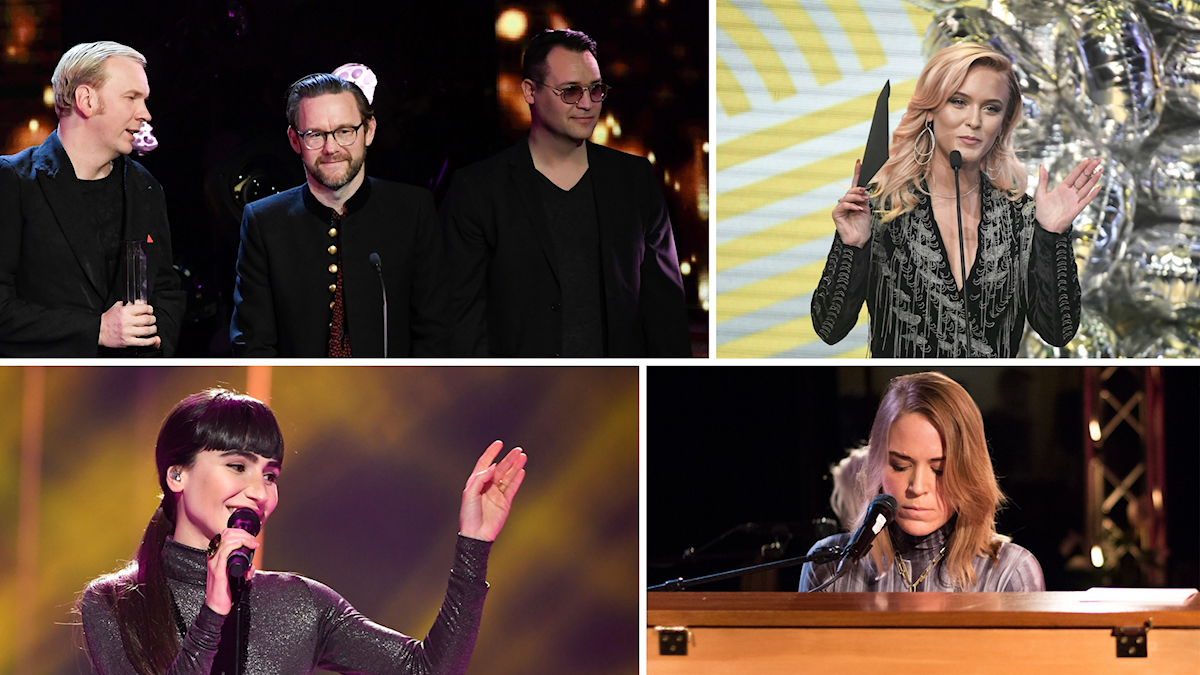 Kent, Zara Larsson, Laleh och Frida Hyvönen. Några av Grammisvinnarna 2017.