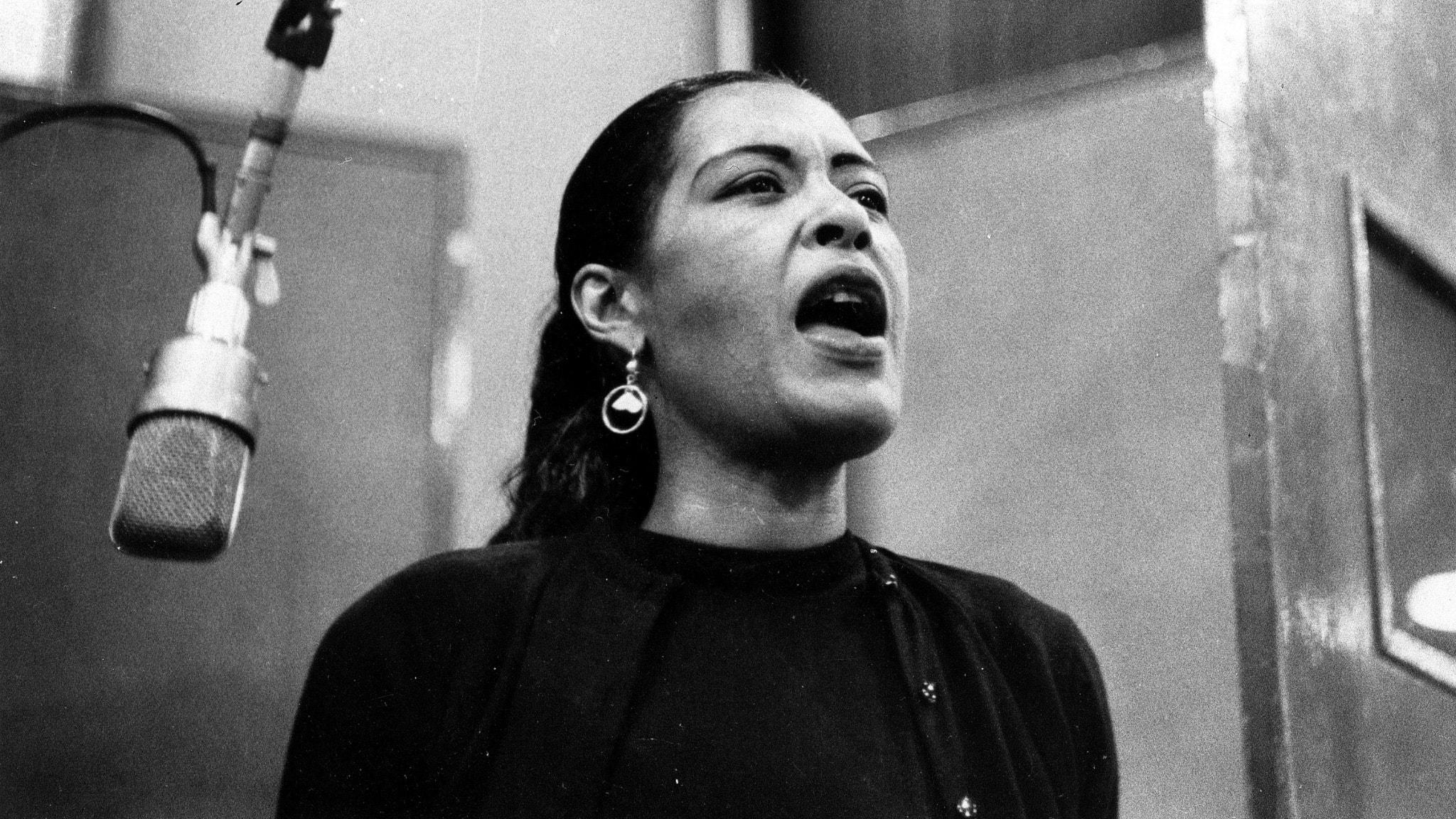 Billie Holiday, en av de stora afroamerikanska sångerskorna.