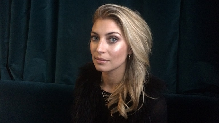 Cecilia Forss som har en huvudroll i TV-dramat Black Widows. Foto: Björn Jansson/Sveriges Radio.