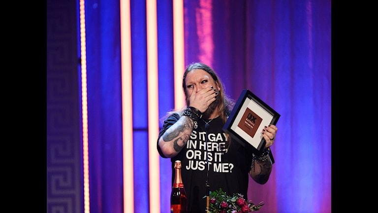 Rickard Söderberg tilldelades priset för årets Homo Bi Trans person på på QX-gala
