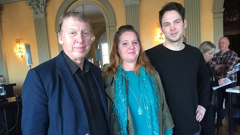 Thomas von Brömsen, Jasmin Carlsson och Joel Alme medverkar på senaste Faktumskivan. Foto: Karin Jansson/Sveriges Radio