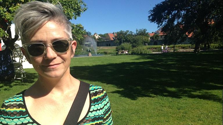 Deckarförfattaren Denise Mina. Foto: Viveca Bladh/SR.