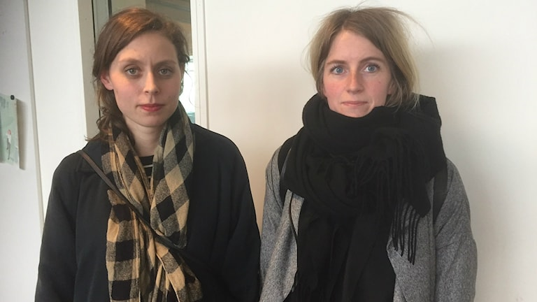 Mathilda Frykberg och Amanda Frövenholt från redaktionen Antal.