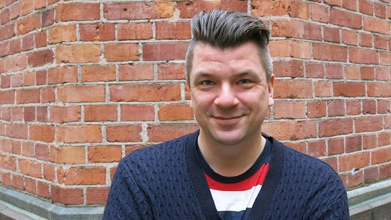 Mats Strandberg som tillsammans med Sofia Falkenhem gjort Monstret i natten. Foto: Björn Jansson/Sveriges Radio.