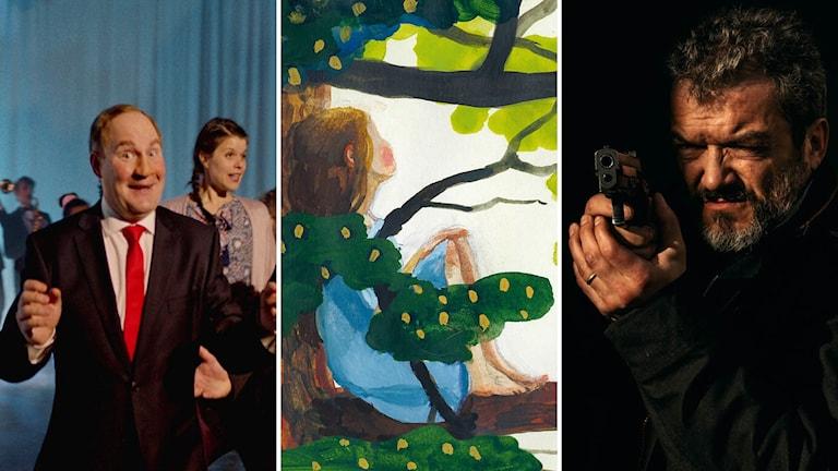 """Humorgruppen """"Grotescos sju mästerverk"""", Sara Lundbergs seriebok """"Fågeln i mig flyger vart den vill"""" och tv-serien """"Alex"""""""