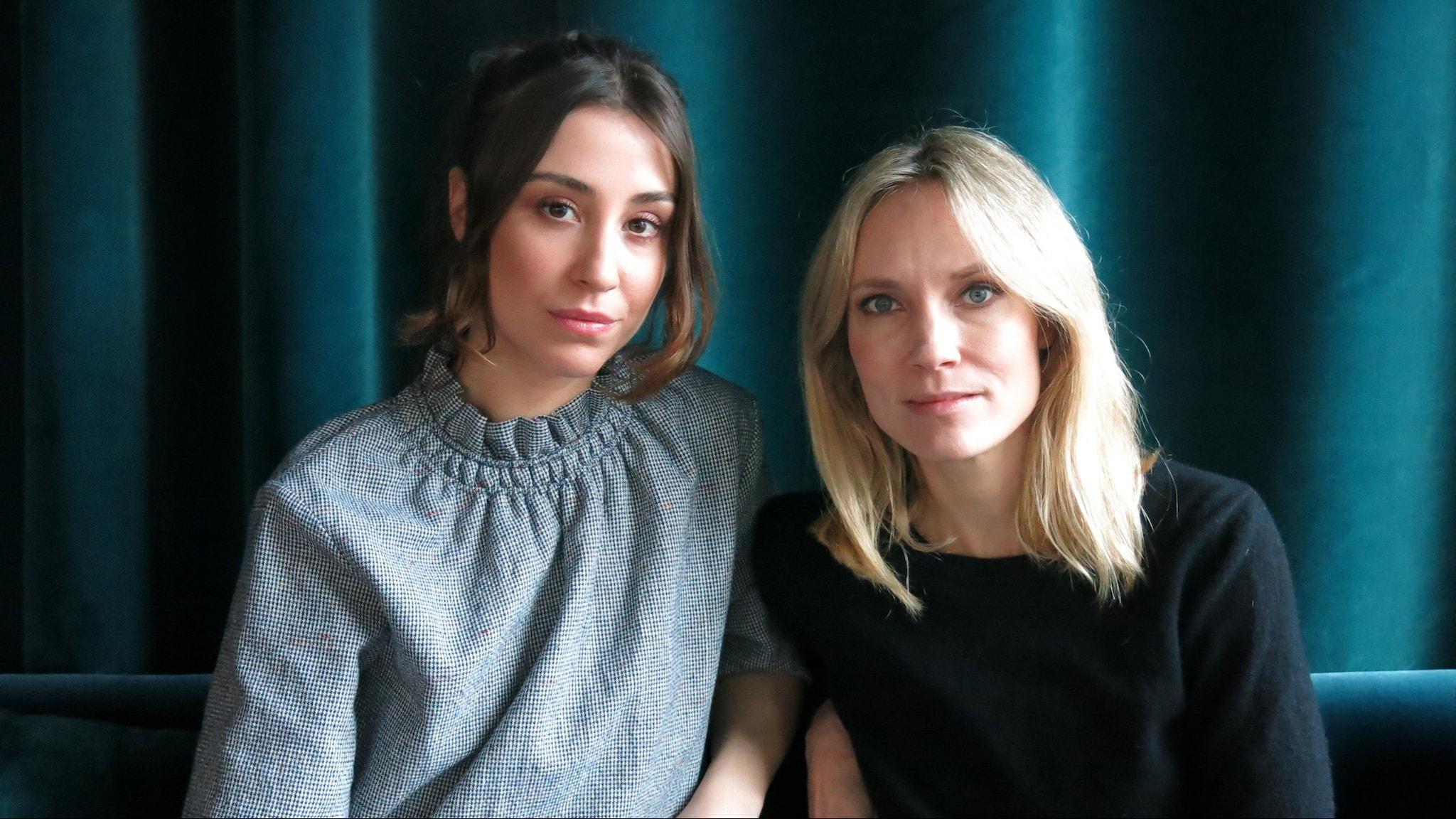"""Madeleine Martin och Moa Gammel spelar Tuva och Ida i undervattensthrillern """"Breaking Surface""""."""