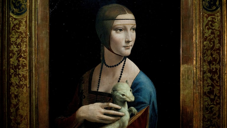 """Föreställer Da Vincis målning """"Damen med hermelinen"""""""