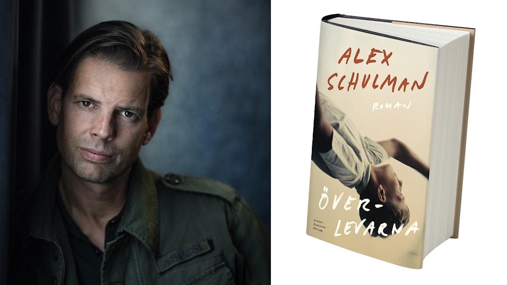 Man med mörkt hår och en bok mot vit bakgrund. Foto: Thron Ullberg.