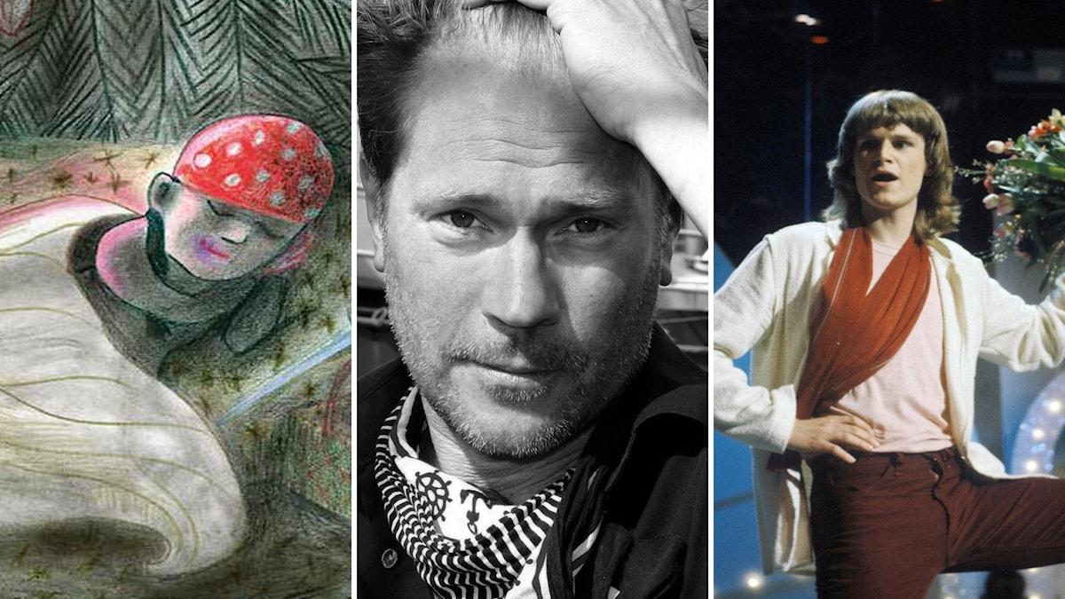 """Kitty Crowthers """"Sagor om natten"""", Per Hagman och Ted Gärdestad."""