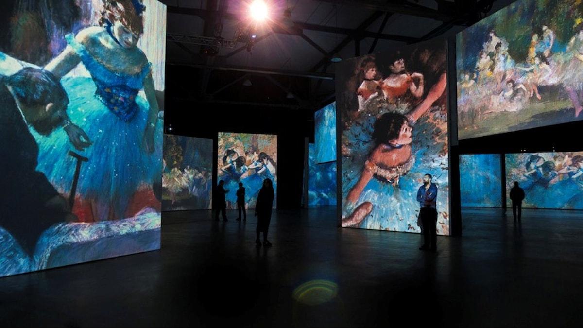 """Utställningen """"Från Monet till Cezanne"""" om impressionisterna. Foto: Arenahallen Halmstad."""