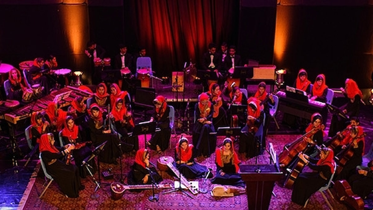 Den afghanska kvinnoorkestern Zohra.