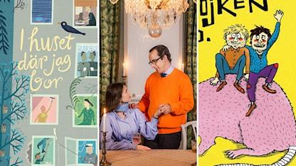 """Lena Sjöbergs bilderbok, tv-serien """"Katsching!"""" och Hästpojkens album."""