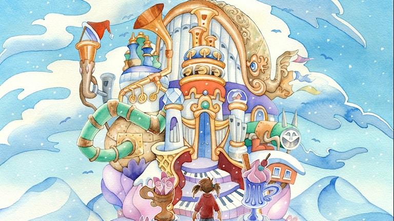 Illustration till Lyckoborgen av: Stina Lövkvist