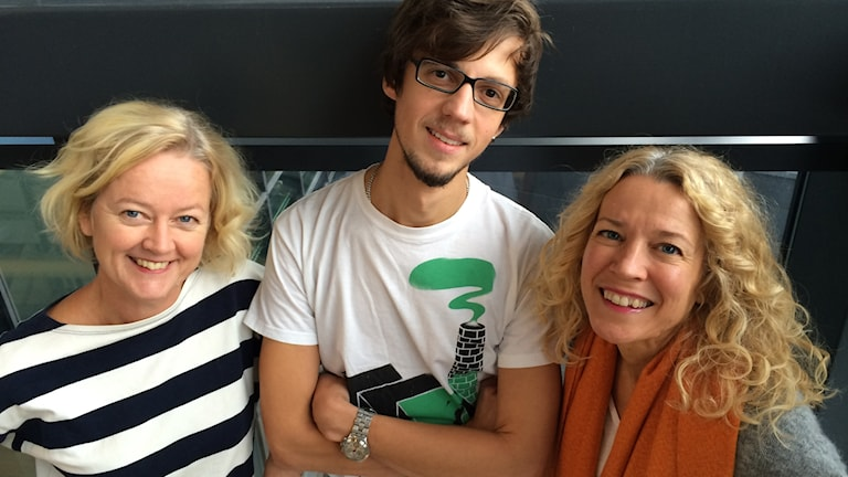 Viveca Bladh, Amar Bajric och Ylva Nilsson.