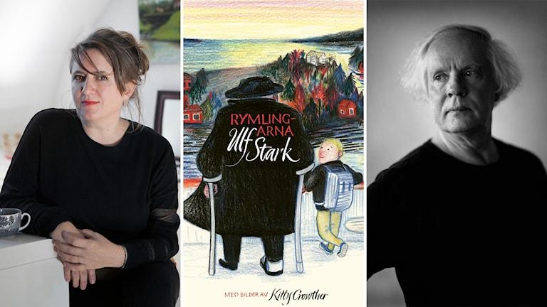 """Illustratören Kitty Crowther och författaren Ulf Stark har tillsammans gjort boken """"Rymlingarna""""."""