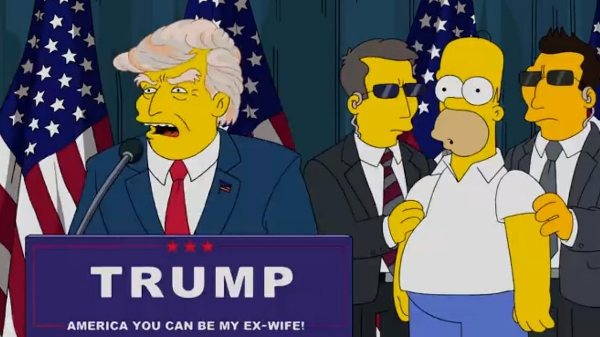 Donald Trump i the Simpsons