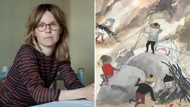 """Emma Adbåge har skrivit och tecknat bilderboken """"Gropen""""."""